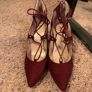 [Unisa] heels in maroon